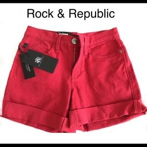 Rock & Republic 🌸🌸 Size 2 Shorts Red NWT